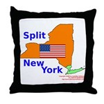 Split New York Throw Pillow