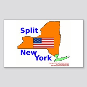 Split New York Rectangle Sticker