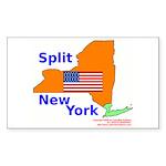 Split New York Rectangle Sticker