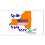 Split New York Rectangle Sticker 10 pk)