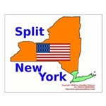 Split New York Small Poster