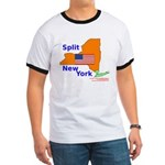 Split New York Ringer T