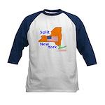 Split New York Kids Baseball Jersey