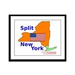 Split New York Framed Panel Print