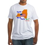Split New York Fitted T-Shirt