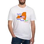 Split New York Fitted T-Shirt