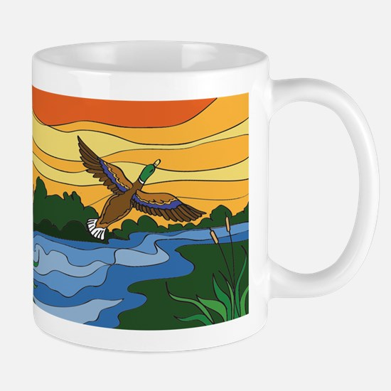 Mug for Men with Mallard duck