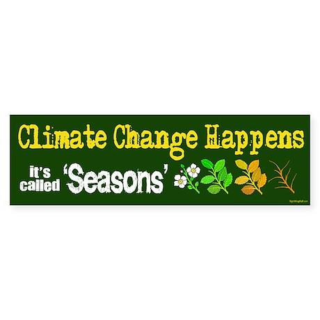 Climate Change Happens Bumper Sticker (10 pk)