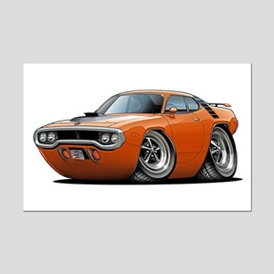1971-72 Roadrunner Orange Car Mini Poster Print