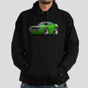 1971-72 Roadrunner Lime Car Hoodie (dark)