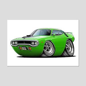 1971-72 Roadrunner Lime Car Mini Poster Print