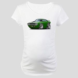 1971-72 Roadrunner Green Car Maternity T-Shirt