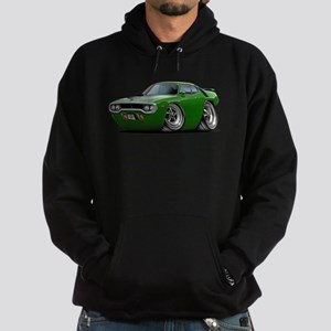 1971-72 Roadrunner Green Car Hoodie (dark)