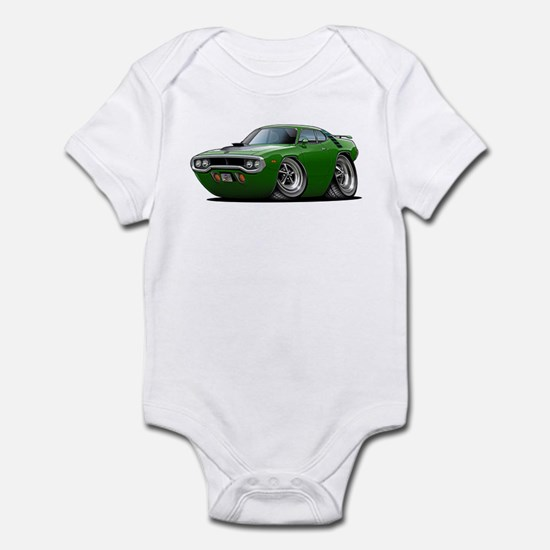 1971-72 Roadrunner Green Car Infant Bodysuit