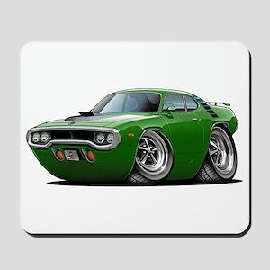 1971-72 Roadrunner Green Car Mousepad
