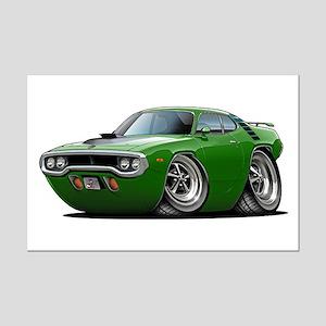 1971-72 Roadrunner Green Car Mini Poster Print