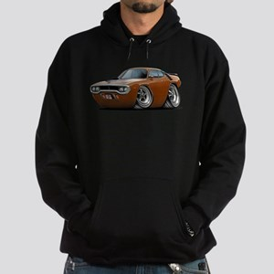 1971-72 Roadrunner Brown Car Hoodie (dark)