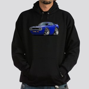 1971-72 Roadrunner Blue Car Hoodie (dark)