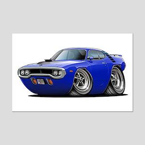 1971-72 Roadrunner Blue Car Mini Poster Print