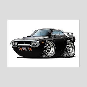 1971-72 Roadrunner Black Car Mini Poster Print