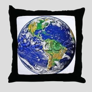 PeaceEarth Throw Pillow