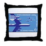 Air Force Stamp Line Art Throw Pillow