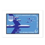Air Force Stamp Line Art Postcards (Package of 8)