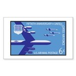 Air Force Stamp Line Art Rectangle Sticker