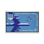Air Force Stamp Line Art Rectangle Magnet