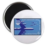"""Air Force Stamp Line Art 2.25"""" Magnet (100 pa"""