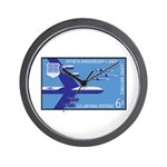 Air Force Stamp Line Art Wall Clock