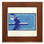 Air Force Stamp Line Art Framed Tile