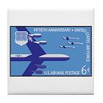 Air Force Stamp Line Art Tile Coaster