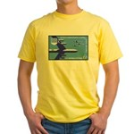 Air Force Stamp Line Art Yellow T-Shirt