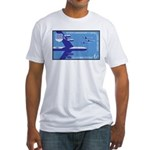 Air Force Stamp Line Art Fitted T-Shirt