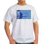 Air Force Stamp Line Art Ash Grey T-Shirt