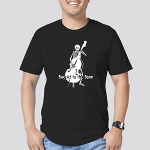 Skeleton Bassist (White) Men's Fitted T-Shirt (dar