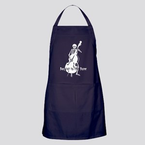 Skeleton Bassist (White) Apron (dark)