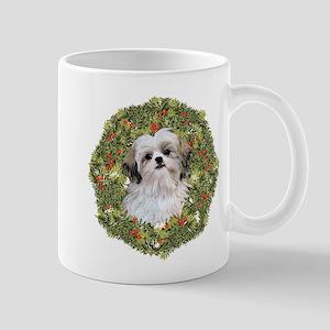 Shih Tzu Xmas Wreath Mug