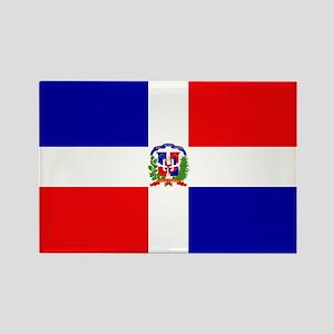 Dominican Republic Flag Rectangle Magnet
