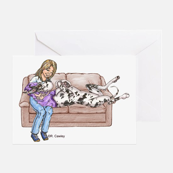 CH Lap Couch Greeting Card