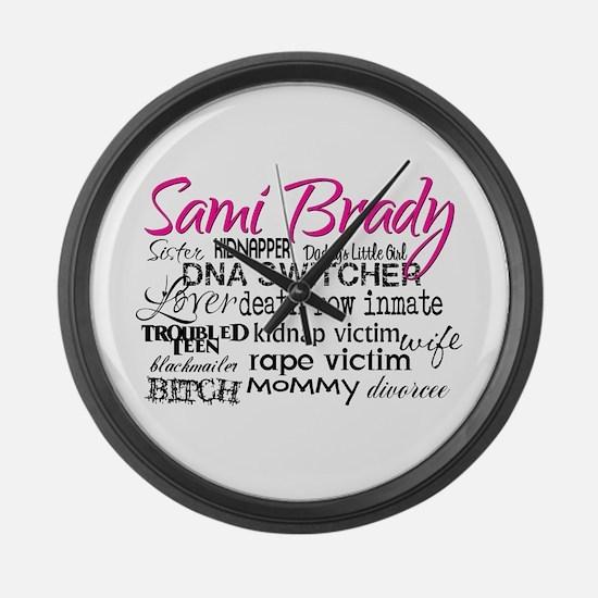 Sami Brady - Many Descriptions Large Wall Clock