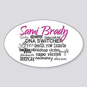 Sami Brady - Many Descriptions Sticker (Oval 10 pk