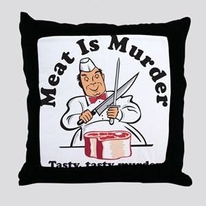 Meat Is Murder Throw Pillow