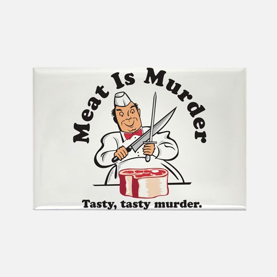 Meat Is Murder Rectangle Magnet