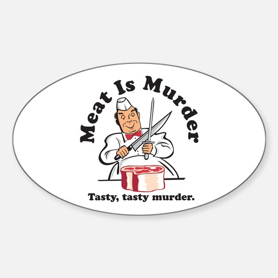 Meat Is Murder Oval Decal