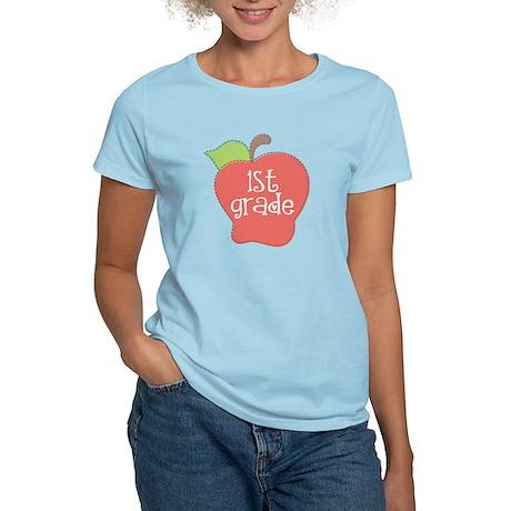 1st Grade Apple Women's Light T-Shirt