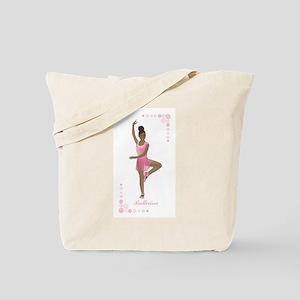 African American Ballerina Tote Bag