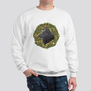 Schipperke Xmas Wreath Sweatshirt