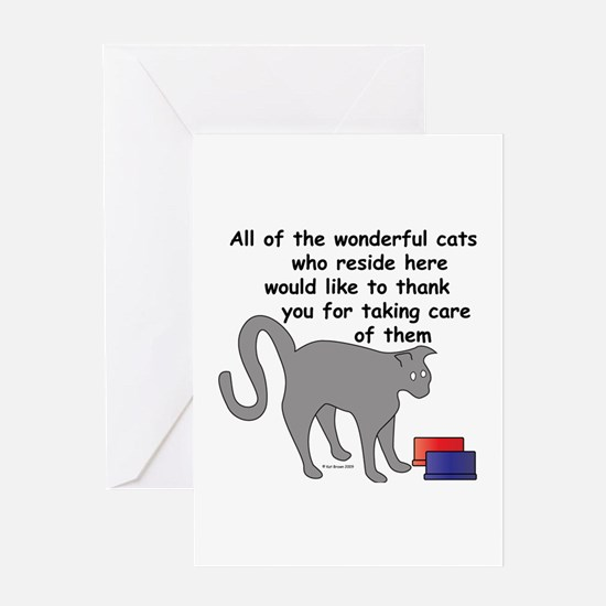 The Wonderful Cats Greeting Card